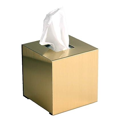 Tissue-box, dorado Würfelbox, caja de Kleenex, toallitas de papel, Made
