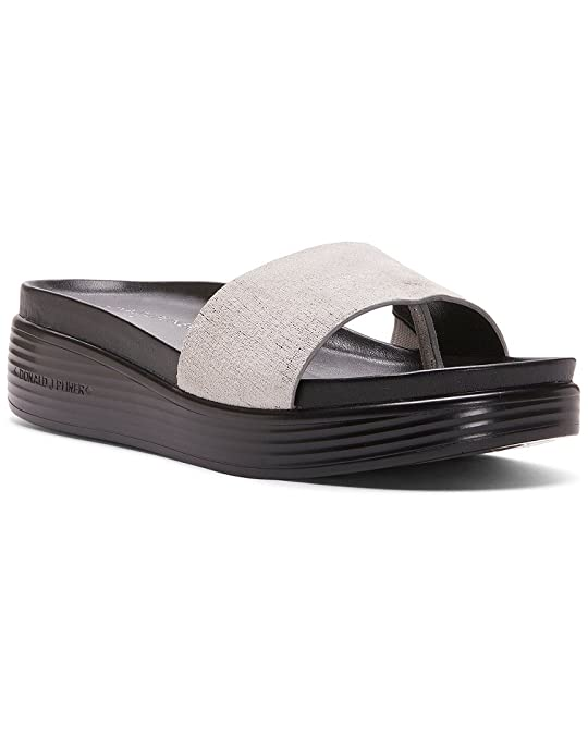 73f2c86dc4f4 Amazon.com  Donald J Pliner Women s Fiji Distressed Metallic Slide Sandal   Shoes