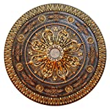 Fine Art Deco Arabic Caprice Hand Painted Ceiling Medallion 37-1/2 In. Finished in Bronze and Gold by Fine Art Deco