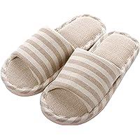 APIKA Comfortabele casual katoenen vlasslipper voor dames en heren voor binnengebruik