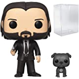 Funko Pop Movies: John Wick Chapter 3 - John in Black Suit with Dog Buddy Vinyl Figure (Includes Compatible Pop Box…