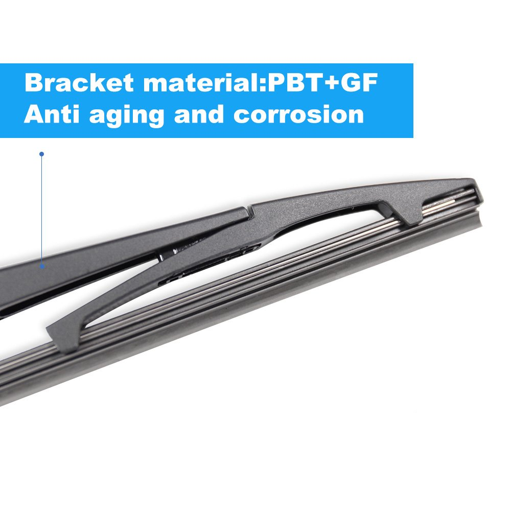 Pack of 2 Rear Wiper Blade,ASLAM 13G Rear Windshield Wiper Blades Type-E for Original Equipment Replacement,Exact Fit