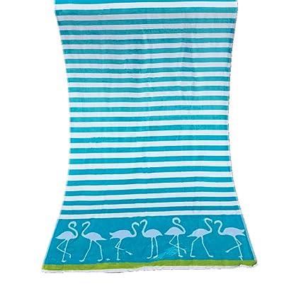 Grande Toalla Playa Rayas diseño, Algodón Absorbente Suave Secado rápido Toalla de baño Manta para