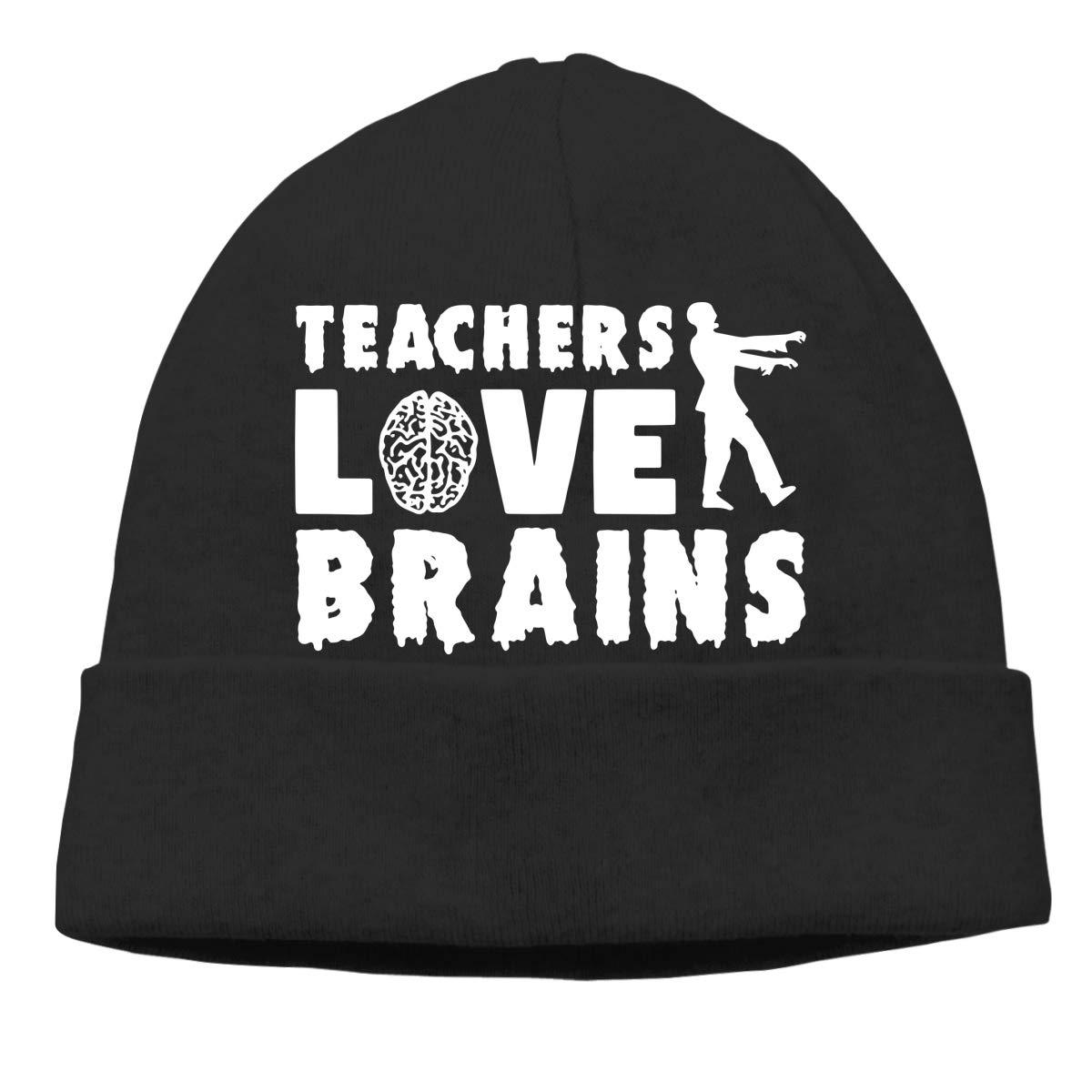 Teachers Love Brains Unisex Baggy Cycling Beanie Cap