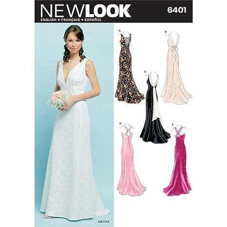 Simplicity New Look Patrones De Costura Para Vestidos De Fiesta De Chica Patrón De Costura Para 6401