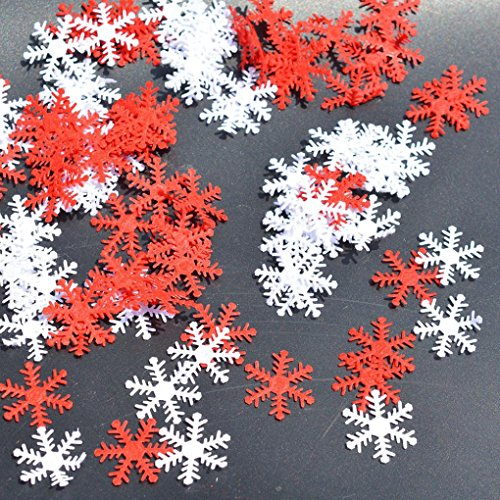 WensLTD Clearance! 100Pcs Snowflake Ornaments Christmas Tree Holiday