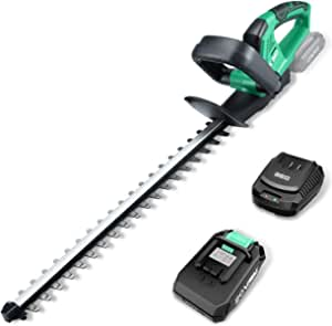 """KIMO 20V Cordless Hedge Trimmer, 20-Inch Dual-Action Blade, 3/5"""" Cutting Capacity, 1400 RPM, 2.0Ah Battery&Fast Charger, Lightweight Electric Weed Eater Garden Pruner for Hedges/Shrubs/Bushes Trimming"""