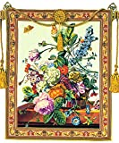 Corona Decor Tuscany European Multicolored Floral Tapestry Wall Hanging