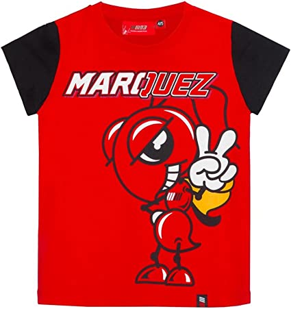 Kid/'s T-Shirt Marc Marquez Ant cartoon 93 official Moto Gp collection Located in