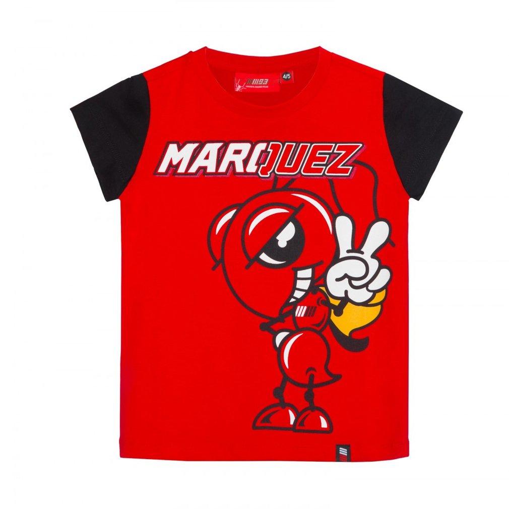 Marc Marquez 93 Moto GP Large Ant Niñ os Camiseta Rojo Oficial 2018