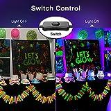 Onforu 4 Pack 20W LED Black Lights, Blacklight