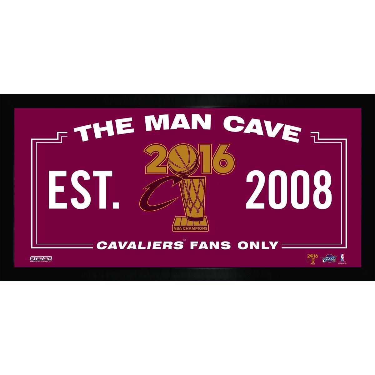 Steiner Sports NBA Cleveland Cavaliers Unisex 2016 NBA Champion Cleveland Cavaliers 10x20 Man Cave (Champs Logo), Navy