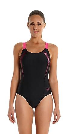 5fa24bc345f Speedo Women Sports Logo Medalist Swimsuit: Speedo: Amazon.co.uk ...