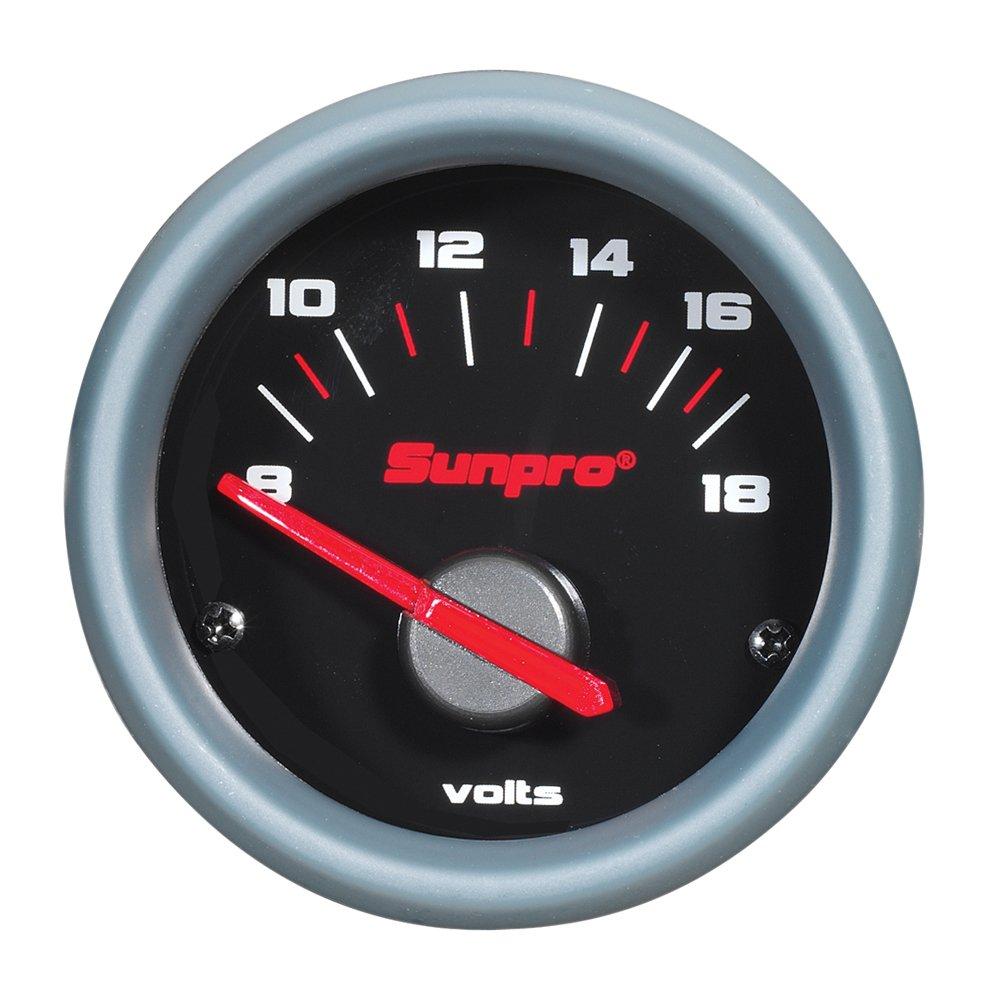 Sunpro CP7007 Sport ST 2' Electrical Voltmeter Actron