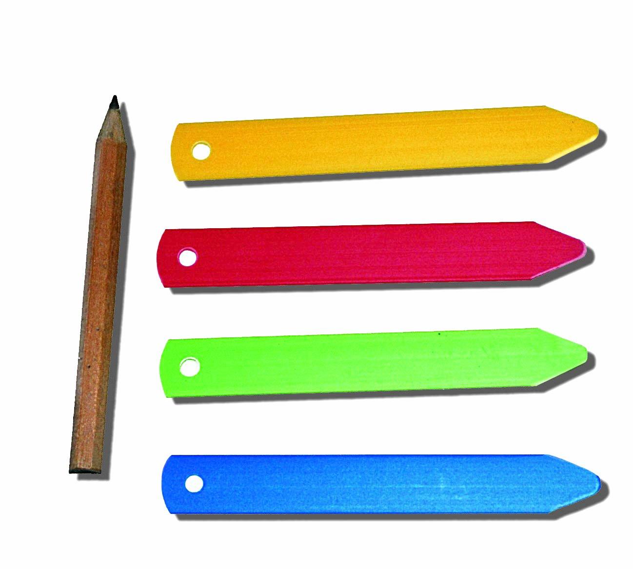 Tildenet 100mm/ 4-inch Plastic Plant Labels with Pencil - Multi-Color Tildenet Gardenware