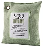 Moso Natural Air Purifying Bag 500-Grams. Natural Odor Eliminator. Fragrance Free, Chemical Free, Odor Absorber. Captures and Eliminates Odors. Green Color