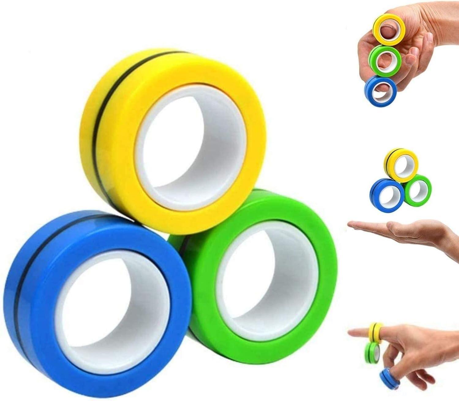 Finger Magnetic Ring Toys Fingears Fidget Spinner Activity Stress Relief Tricks