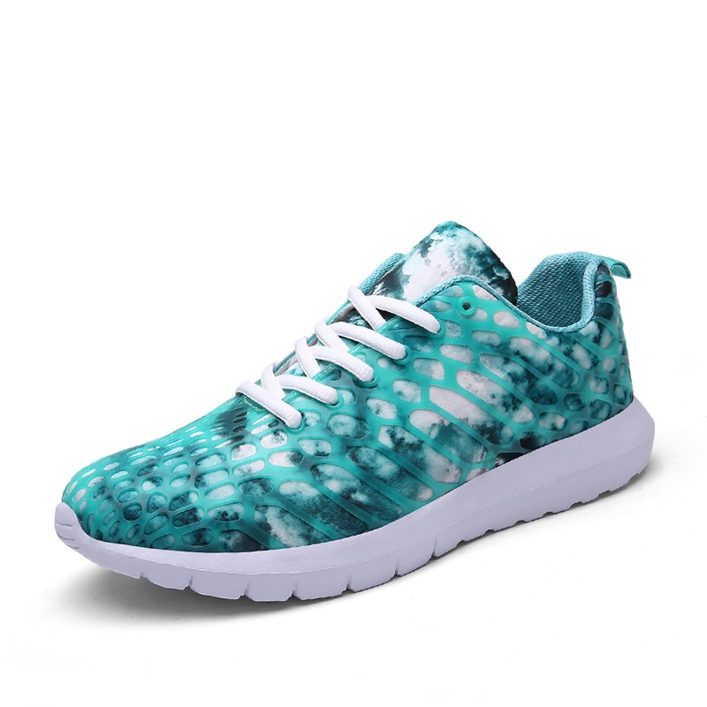 Dannto Herren Damen Sneakers Bequeme Freizeit Schnuuml;rer Profilsohle Laufschuhe Sportschuhe Turnschuhe  38 EU|Himmelblau-A