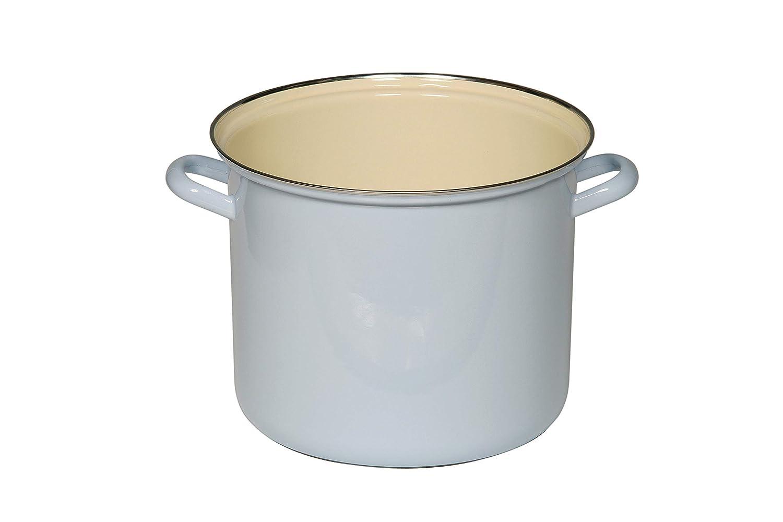 Riess/ 0272-006 Classic-Household Articles Colour//Pastel Pot with Chrome Rim/Diameter 18 cm Blue