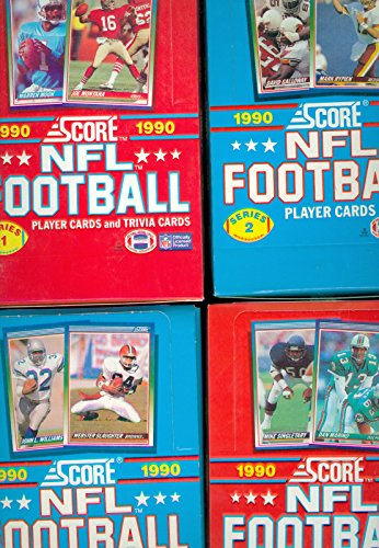 LOT of 4 1990 Score Football Series 1 2 One Two Wax Pack Box ~ Complete Set ()