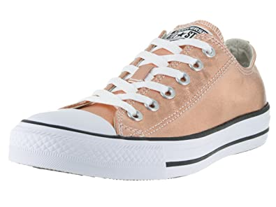 000bef481c754f Image Unavailable. Image not available for. Color  Converse Unisex Chuck  Taylor All Star Ox Low Top Classic Metallic Sunset Glow White Sneakers