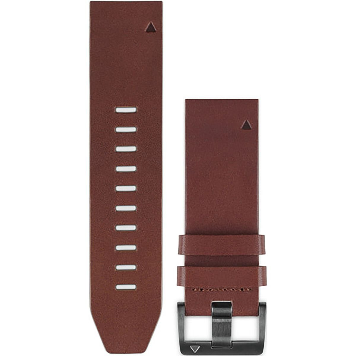 Garmin QuickFit 22 Watch Band Brown Leather, One Size by Garmin (Image #1)