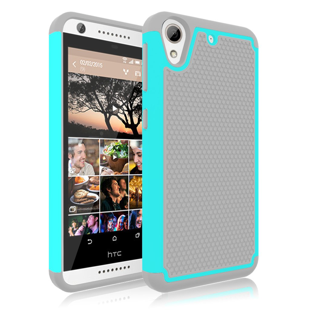 HTC Desire 626 Case, Desire 626S Case, Jeylly [Shock Proof] Scratch Absorbing Hybrid Rubber Plastic Impact Defender Rugged Slim Hard Case Cover Shell ...