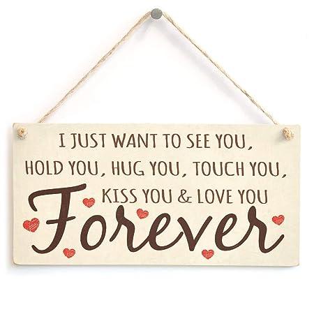 Hunnry Love You Forever Letrero de Placa de Madera Carteles ...