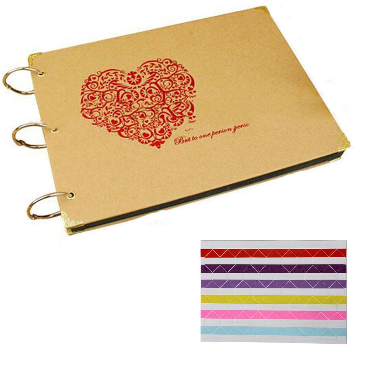 ARHSSZY 10 inch DIY Handmade Photo Album Wedding Gift Baby Lovers Family Memory Paste Photo Albums