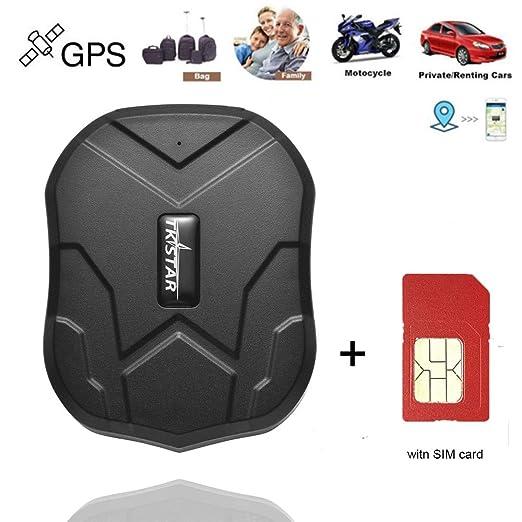 Hangang Localizador GPS con Tarjeta SIM, App/Sitio Web posición en Tiempo Real Antirrobo GPS Localizador para Vehículos Fuerte imán y 5000 mAh ...