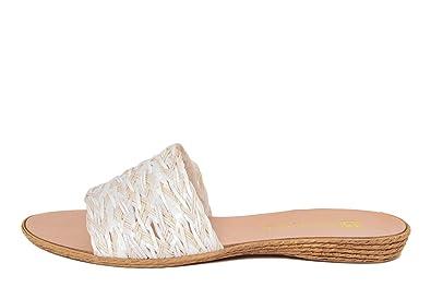 GAGLIANI RENZO Damen - GR030_Bianco_Multi_36 - Sandale - Synthetik - Hergestellt in Italien JwShGVw