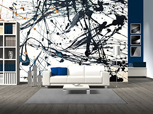 Hand Painted Wall Mural - wall26 - Abstract art creative background. Hand painted background. - Removable Wall Mural | Self-adhesive Large Wallpaper - 66x96 inches