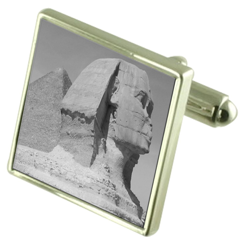 Select Gifts Sphinx Sterling Silver Cufflinks Optional Engraved Box