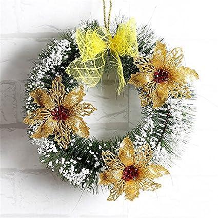 Amazon.com: Hanging Christmas Wreaths Garlands Artificial Pine ...