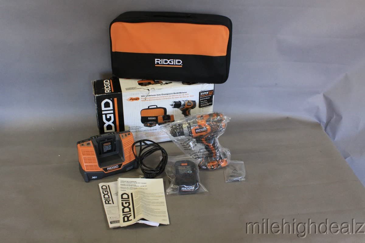 Ridgid ZRR86008K 18V Cordless Fuego Lithium-Ion Compact Drill Driver Renewed