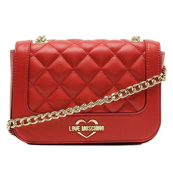 e3586e0593a Love Moschino Borsa Super Quilted Mini Red Gold Shoulder Bag  JC4208PP06KA0500  Amazon.co.uk  Clothing