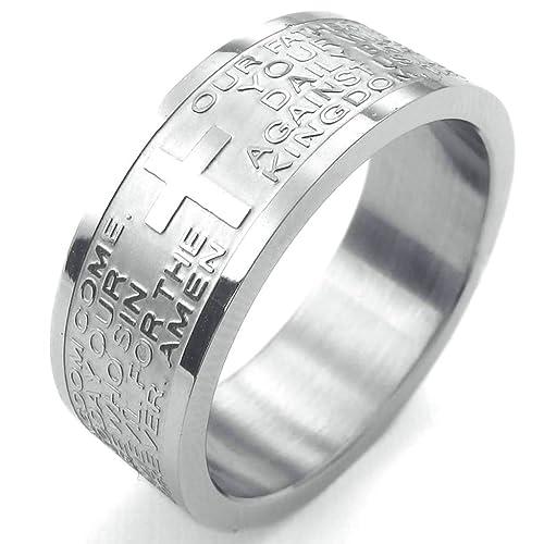 Amazon.com: daesar para hombre anillos acero inoxidable ...