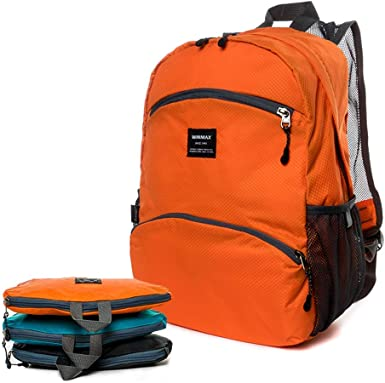 winmax Mochila ligera plegable de 20 l resistente al agua práctica senderismo mochila plegable unisex pequeña mochila para acampar viajes deportes al ...