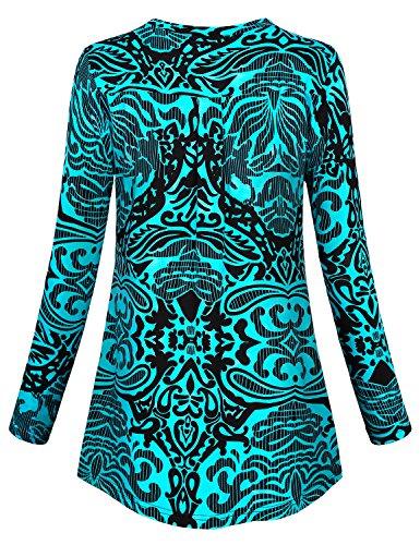 Long Sleeve T Shirt Women Miusey Juniors Floral Print Stylish