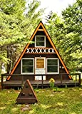 Build your own 24' X 21' A Frame 2 Story Cabin (DIY Plans) Fun to build, save $