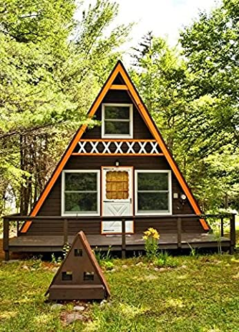 Build your own 24' X 21' A Frame 2 Story Cabin (DIY Plans) Fun to build (House Plans In Autocad)