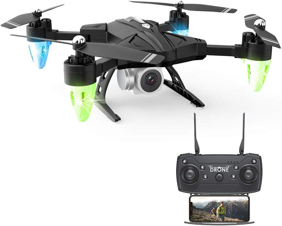 QOUP Drone Plegable 1080p RC Quadcopter, 20 min duración del Vuelo, de un Solo Clic de despegue/Aterrizaje/trayectoria de Vuelo/altitud Espera, Cuatro Ejes Juguetes de Control Remoto