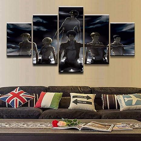 TANXM Pintura De La Lona 30x50cm Sin Marco P/óster de Shingeki NO Kyojin RETRO2 y p/óster de Imagen art/ística para Pared p/ósteres de decoraci/ón de Dormitorio Familiar Moderno