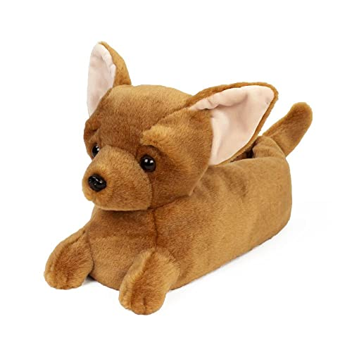 ffaa3604e205 Chihuahua Slippers - Dog Slippers for Men and Women Brown  Amazon.co.uk   Shoes   Bags