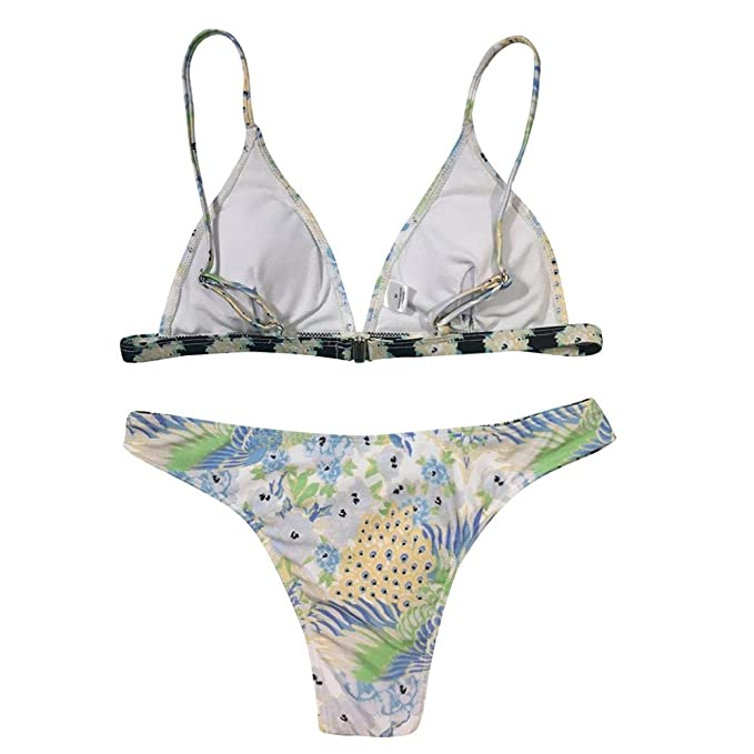 d0b1a8ce4c VENMO Peacock Floral Printed Women Two Pieces High Waisted Push Up Bikini  Set Swimwear Swimsuit Sexy Ladies Bandage Backless Halterneck Tankini  Bathing Suit ...