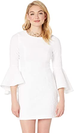 a9125eb36de4dd Lilly Pulitzer Women's Kayla Stretch Dress Resort White Caliente Pucker  Jacquard 0