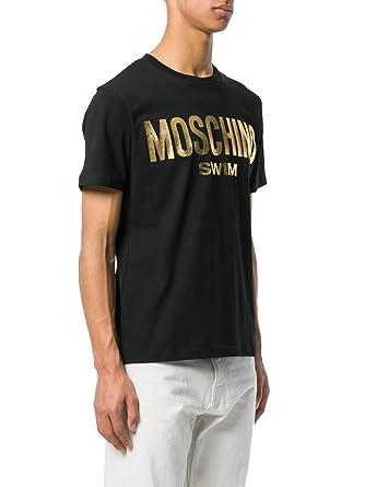a35c5b1320b9 Moschino Swim Herren T-Shirt Schwarz Schwarz Gr. Kragenweite  50, Schwarz