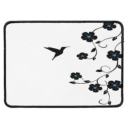 9cccbbcff3786 Hummingbirds Decorations Wristband Mouse Pad,Floral Art with Hummingbird  Simple Minimalistic Design Nature Life Springtime