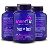 LoveBug Probiotics - Daily Probiotic for Women, Yeast is a Beast, 30 Delayed Release