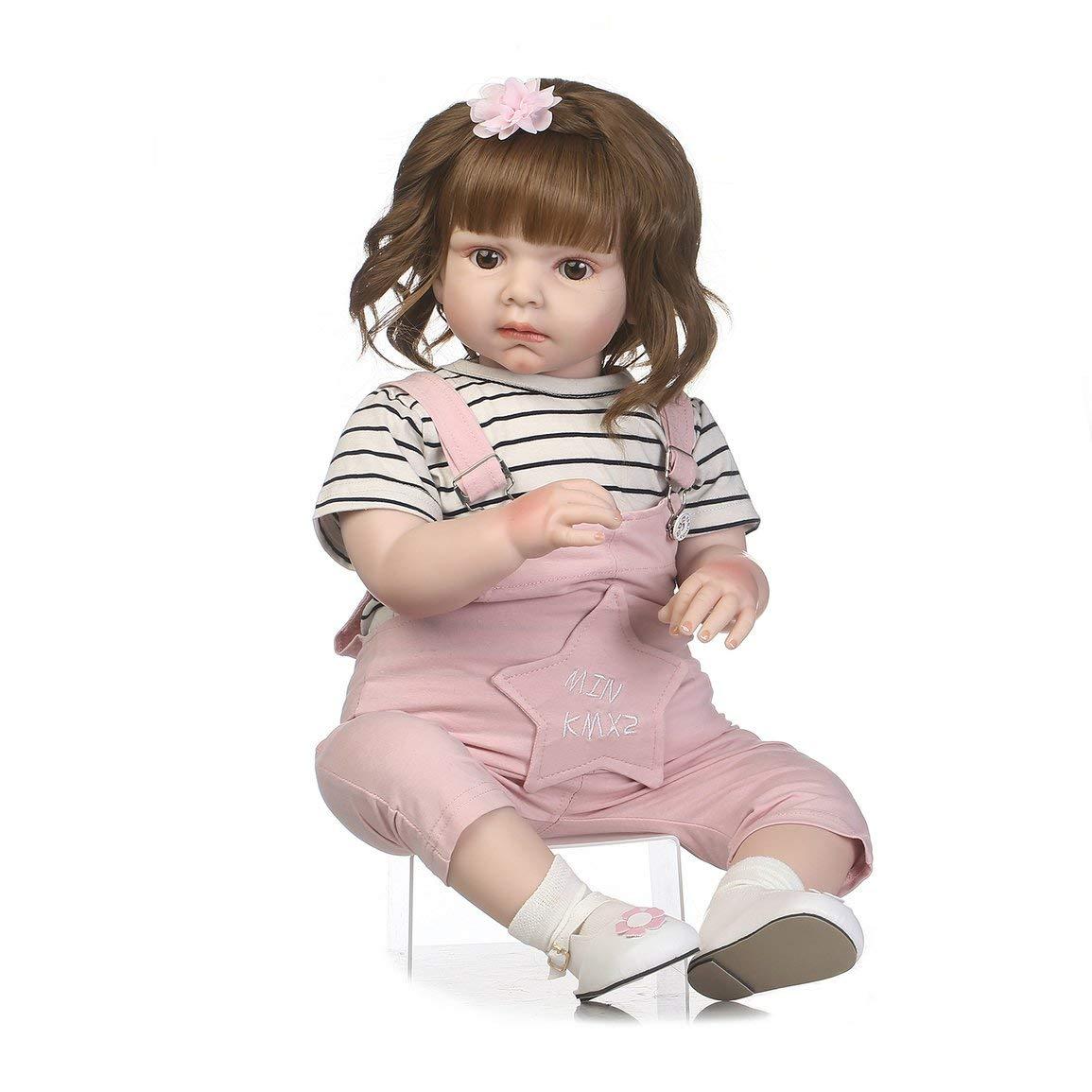 Bambola di reborn del bambino di simulazione di 70cm che porta i puntelli di fotografia della bambola appena nata dei pagliaccetti